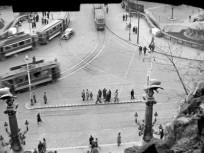 1942-1944, a régi Erzsébet híd budai hídfő, 1. kerület