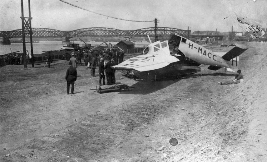 1923, a Csepel sziget északi csúcsánál