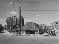 1951, a Retek és a Lövőház utca, a Széna tér felől, 2. kerület