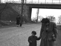 1953, Budakeszi út, az Úttörővasút (Gyermekvasút) felüljárója Ságvári liget (Szépjuhászné) állomás mellett
