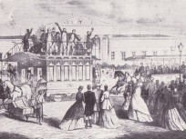 1866, Land Strasse (Országút), Múzeum körút, az első lóvonat  (lóvasút)