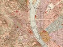 1927 táján, térkép Budapest belső területeiről