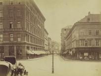 1880-as évek, a Waitzner Gasse (Váci utca), 4., (1950-től 5.) kerület