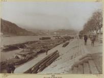 1893 táján, a Pesti alsó rakpart a Fővám tér felől, 9. kerület